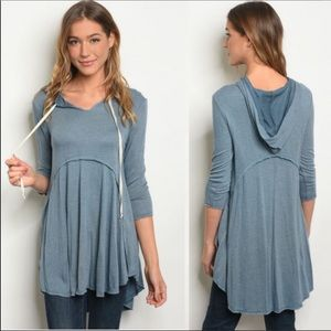 Blue Hooded Tunic